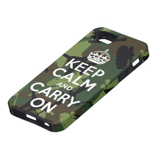 Keep Calm and Carry On Military Camo iPhone