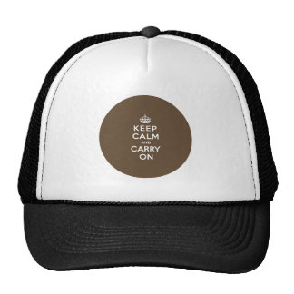 Keep Calm and Carry On - Milk Chocolate Brown Cap