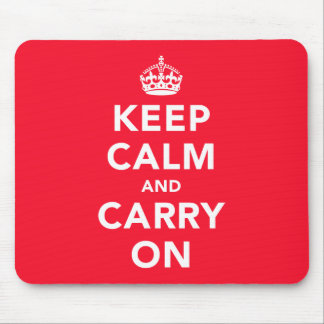 Keep Calm And Carry On Mousepad [Landscape]