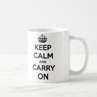 Keep Calm and Carry On Mug (black and white)