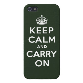 Keep Calm and Carry On Olive Green iPhone 5 Cases