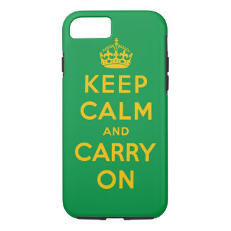 keep calm and carry on Original - brasil color iPhone 7 Case