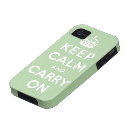 keep calm and carry on Original iPhone 4/4S Cover