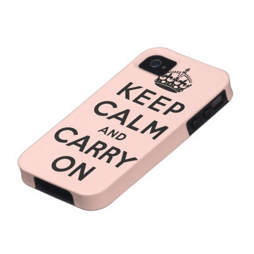 keep calm and carry on Original Vibe iPhone 4 Cases