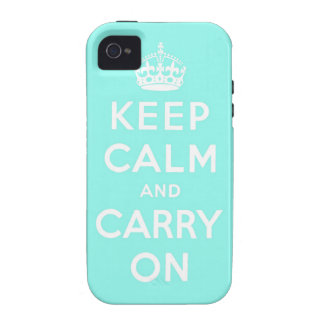 keep calm and carry on Original Vibe iPhone 4 Cover