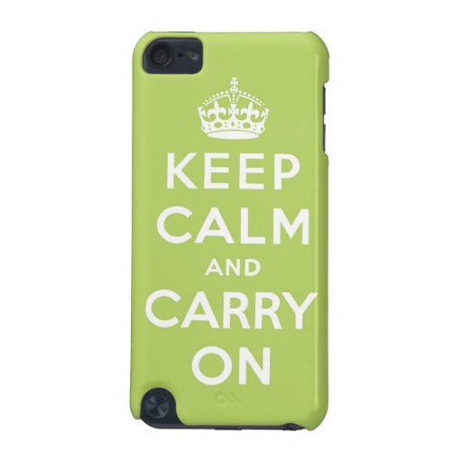 keep calm and carry on Original iPod Touch (5th Generation) Cases
