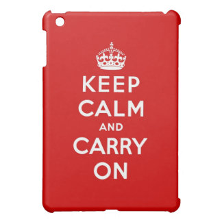 keep calm and carry on Original iPad Mini Cover