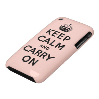keep calm and carry on Original iPhone 3 Cover