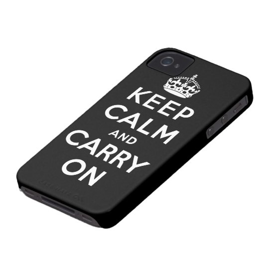 keep calm and carry on Original iPhone 4