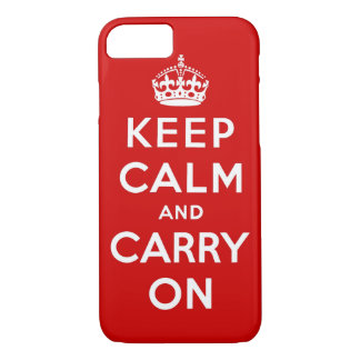 keep calm and carry on Original iPhone 8/7 Case