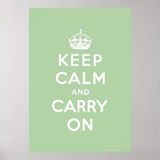 keep calm and carry on Original Print