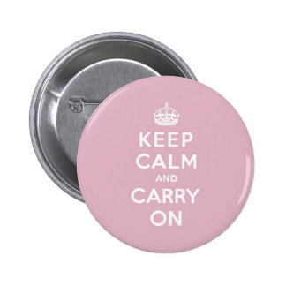 Keep Calm and Carry On Persian Rose 6 Cm Round Badge