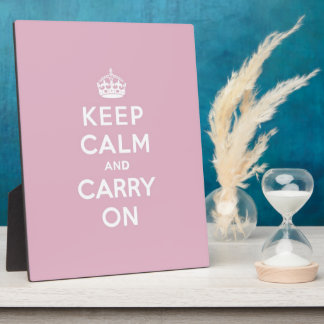 Keep Calm and Carry On Persian Rose Plaque