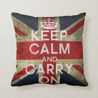 Keep Calm and Carry On Pillow