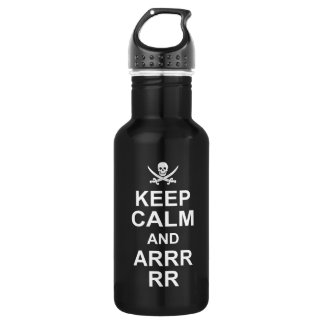 Keep Calm And Carry On Pirate Style 2 532 Ml Water Bottle