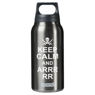Keep Calm And Carry On Pirate Style 2 Insulated Water Bottle
