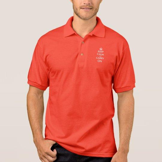 Keep calm and carry on polo shirt