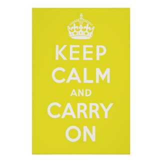 Keep Calm and Carry On Poster - Yellow
