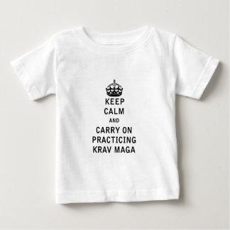 Keep Calm and Carry On Practicing Krav Maga Tees