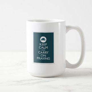 Keep Calm And Carry On Praying Mugs