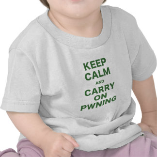 Keep Calm and Carry On Pwning Tshirts