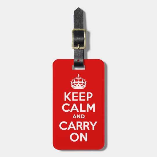 Keep Calm And Carry On Red And White