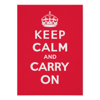 Keep Calm and Carry On_RED Print