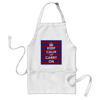 Keep Calm and Carry On Red White Blue Standard Apron