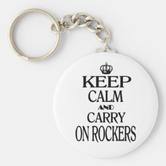 Keep Calm and Carry On Rockers Keychain
