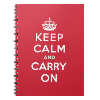 Keep Calm And Carry On Spiral Notebook