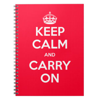 Keep Calm and Carry On Spiral Notebooks