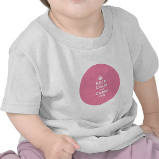 Keep Calm and Carry On Spring Pink Tshirts