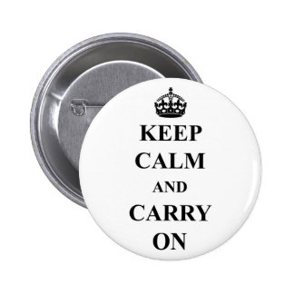Keep Calm And Carry On Standard Button