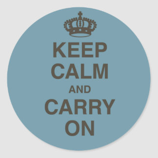 Keep Calm and Carry On Round Sticker