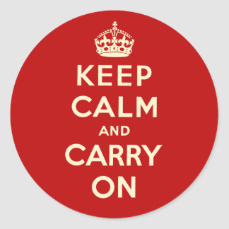 Keep Calm And Carry On Stickers