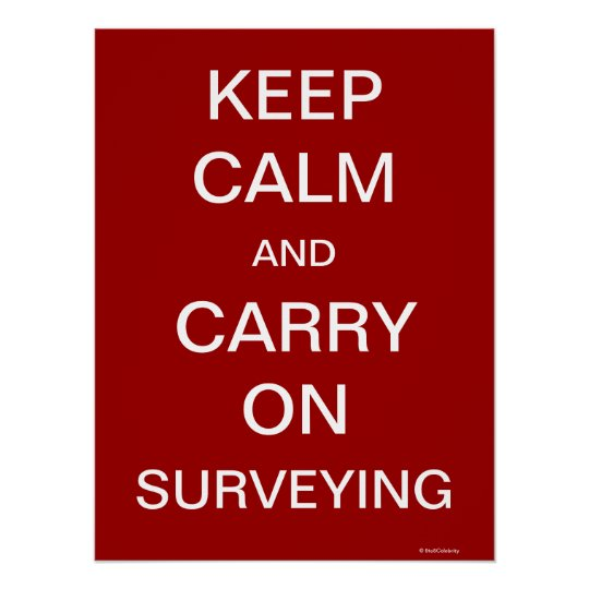 Keep Calm and Carry On Surveying Poster