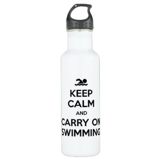 Keep Calm and Carry On Swimming Water Bottle