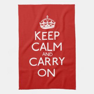 Keep Calm And Carry On Tea Towel