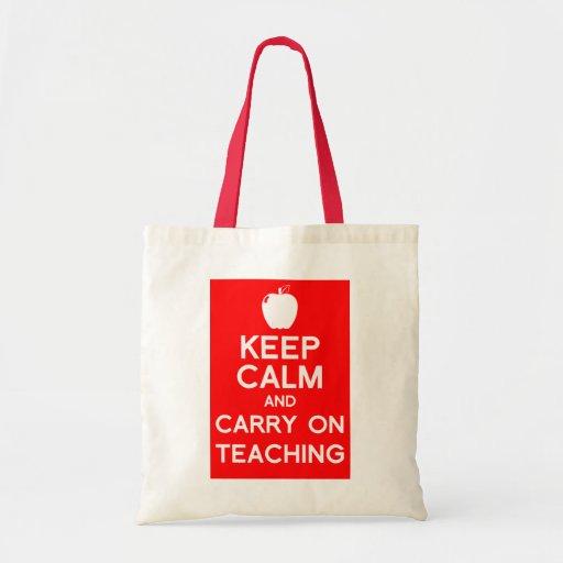 Keep calm and carry on Teachers Book Bag