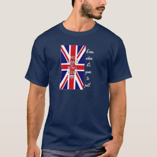 Keep Calm and Carry on UK Flag funny T-Shirt