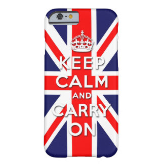 keep calm and carry on Union Jack flag iPhone 6 Case