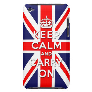 keep calm and carry on  Union Jack flag Case-Mate iPod Touch Case