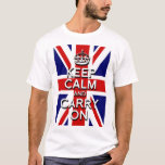 keep Calm and Carry on Union Jack Flag T-Shirt