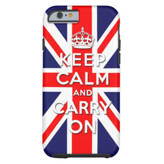 keep calm and carry on Union Jack flag Tough iPhone 6 Case