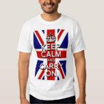 keep Calm and Carry on Union Jack Flag Tshirt