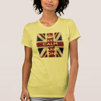 Keep Calm and carry on union Jack Tshirts