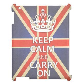 Keep Calm and Carry On United Kingdom Union Jack iPad Covers