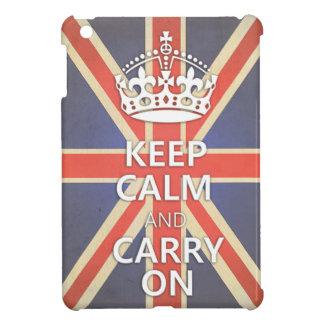 Keep Calm and Carry On United Kingdom Union Jack iPad Mini Cases