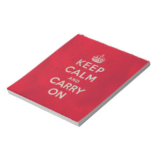 Keep Calm and Carry On | Vintage Notepad