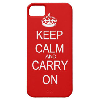 Keep Calm and carry on vintage red iPhone 5 Case